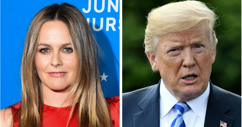 Alicia Silverstone has Donald Trump's phone number and for most bizarre reason ever