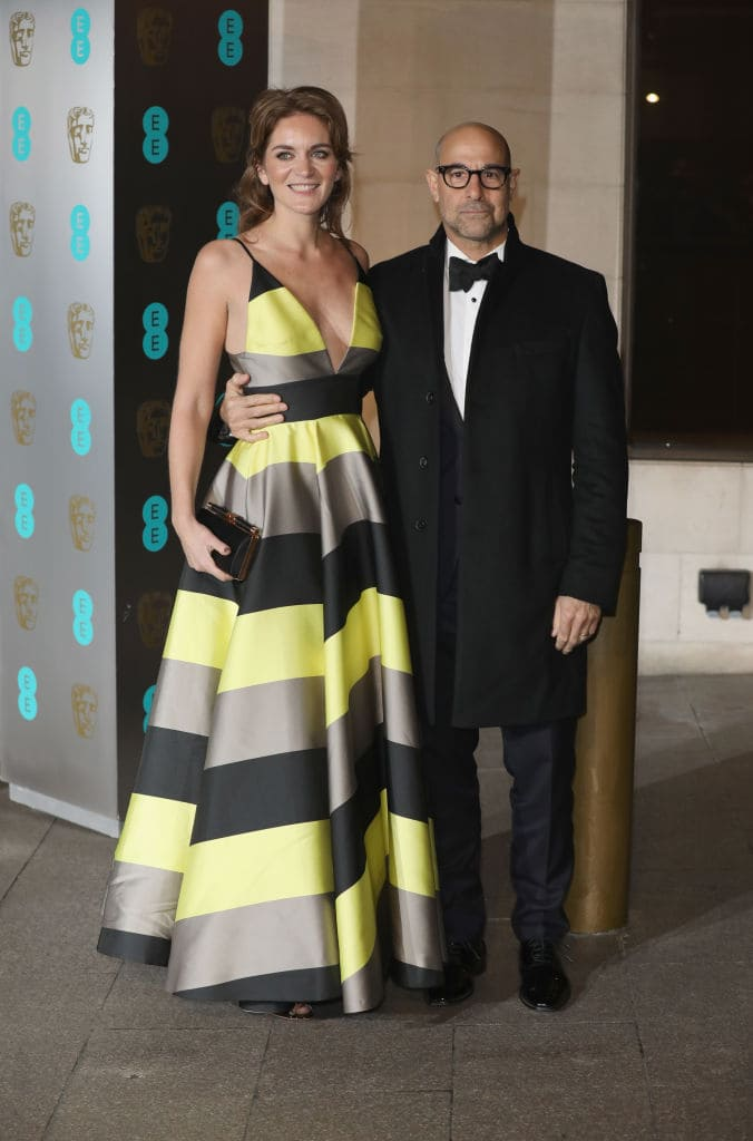 Felicity Blunt and Stanley Tucci attend the official after party for the 70th EE British Academy Film Awards (BAFTA) at The Grosvenor House Hotel on February 12, 2017 in London, England. (Photo by Tim P. Whitby/Getty Images)