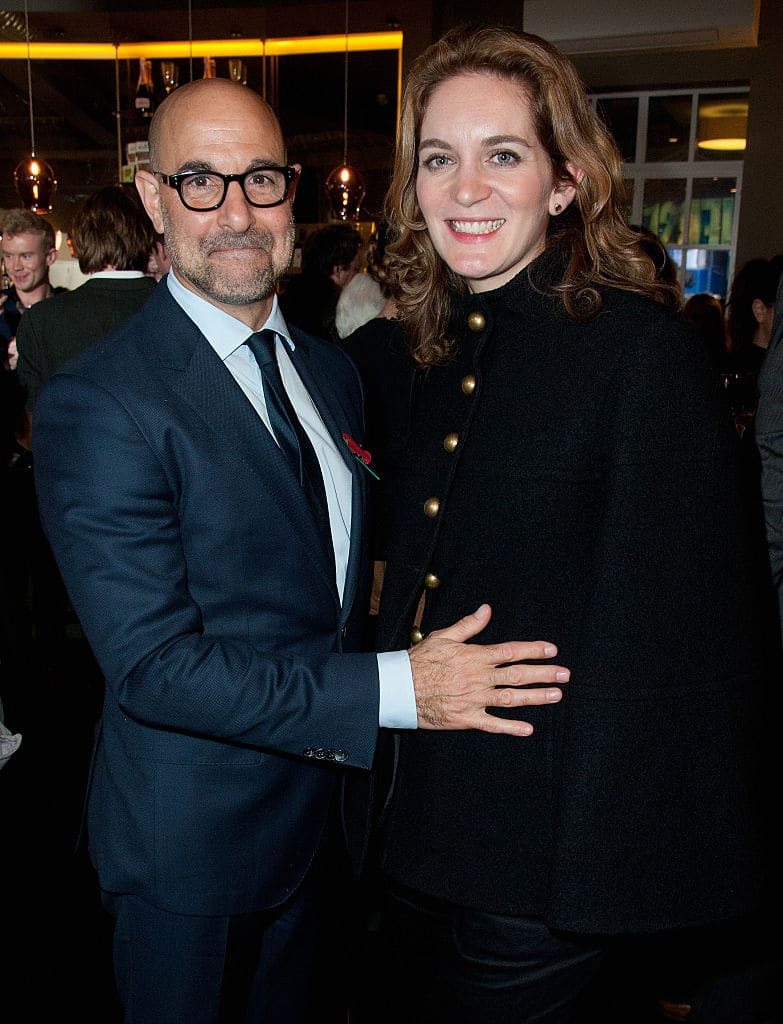 Actor Stanley Tucci and Felicity Blunt celebrate the Baileys Women's Prize for Fiction Best of the Best Live, marking the 20th Anniversary of the Prize at The Piccadilly Theatre on November 2, 2015 in London, England. (Photo by Eamonn M. McCormack/Getty Images for Baileys Women's Prize for Fiction)