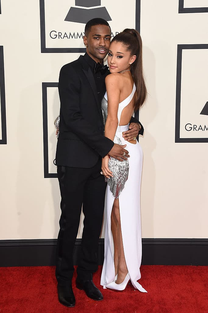 Singers Ariana Grande and Big Sean attend The 57th Annual GRAMMY Awards at the STAPLES Center on February 8, 2015 in Los Angeles, California. (Photo by Jason Merritt/Getty Images)