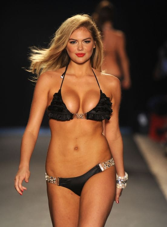 Kate Upton walks the runway at the Beach Bunny Swimwear show during Merecdes-Benz Fashion Week Swim 2012 at The Raleigh on July 15, 2011 in Miami Beach, Florida. (Photo by Frazer Harrison/Getty Images for Beach Bunny)