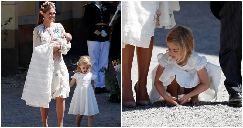 Sweden's Princess Leonore steals the show at sister's christening by going barefoot