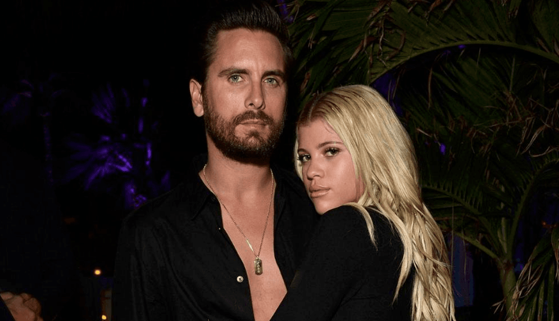 Scott Disick and Sofia Richie (Source: Twitter)