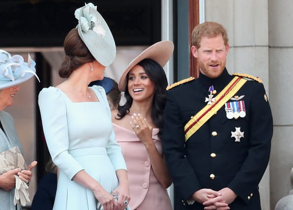 Kate Middleton, Meghan Markle, and Prince Harry (Source: Getty Images)