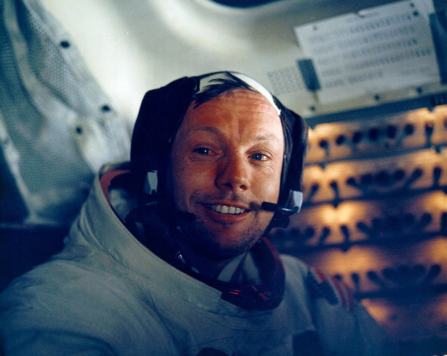 Astronaut Neil Armstrong inside the Lunar Module (Getty Images)