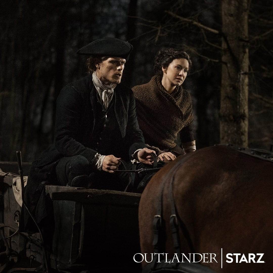 Sophie Skelton and Richard Rankin will also be present at the event (Starz)
