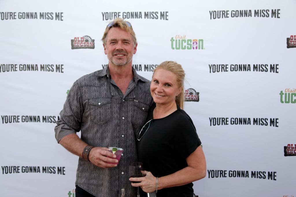 John Schneider and Alicia Allain attend 'You're Gonna Miss Me' premiere sponsored by Visit Tucson on May 13, 2017, in Tucson, Arizona. (Jason Wise/Getty Images for Funimation Entertainment)