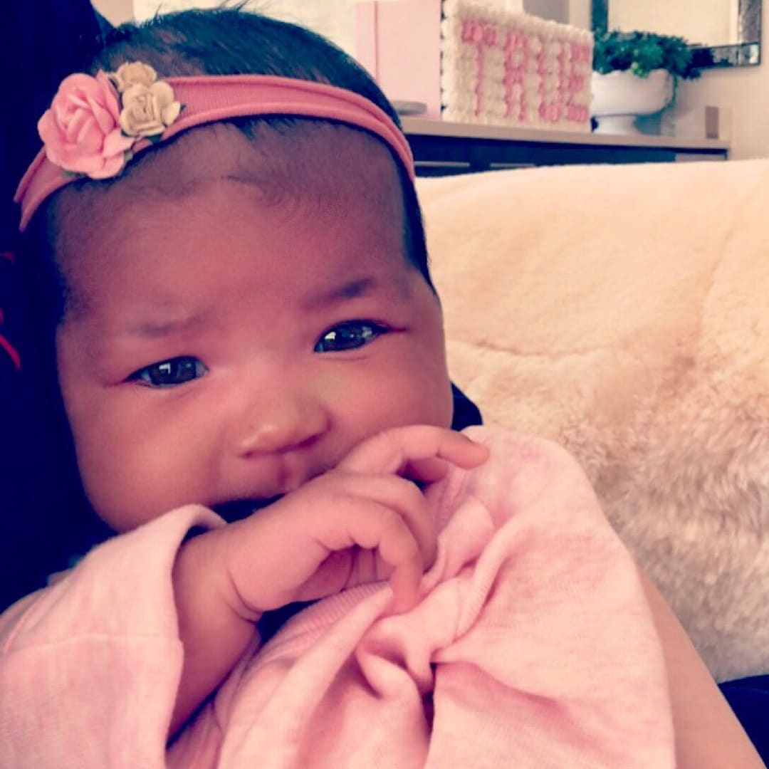 Khloe Kardashian shared an adorable photo of baby True (Instagram)