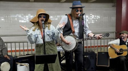 Watch Christina Aguilera and Jimmy Fallon busk in disguise in New York subway