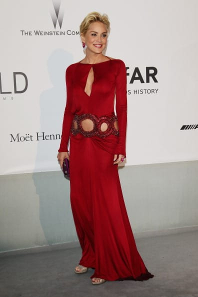 Sharon Stone attends amfAR's 21st Cinema Against AIDS Gala Presented By WORLDVIEW, BOLD FILMS, And BVLGARI at Hotel du Cap-Eden-Roc on May 22, 2014 in Cap d'Antibes, France. (Photo by Vittorio Zunino Celotto/Getty Images)