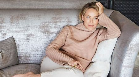 Proud mother Sharon Stone shares a very rare picture of her three sons in their Beverly Hills mansion
