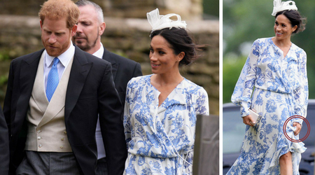 Where is the sparkle in Markle? Duchess of Sussex underwhelms at Harry's cousin Celia McCorquodale's wedding in a maxi dress