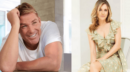 Shane Warne posts an adorable tribute to his ex-wife Elizabeth Hurley