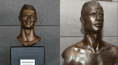 Ronaldo's three goals against Spain were made sweeter by a brand new bronze bust