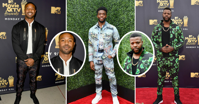 King T'Challa, M'Baku, and Eric Killmonger bring on the heat! The Wakanda boys rocked the MTV Movie and TV Awards red carpet