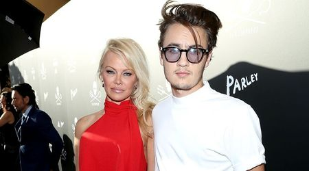 Taking sides: Pamela Anderson supports son Brandon in his fight with Tommy Lee