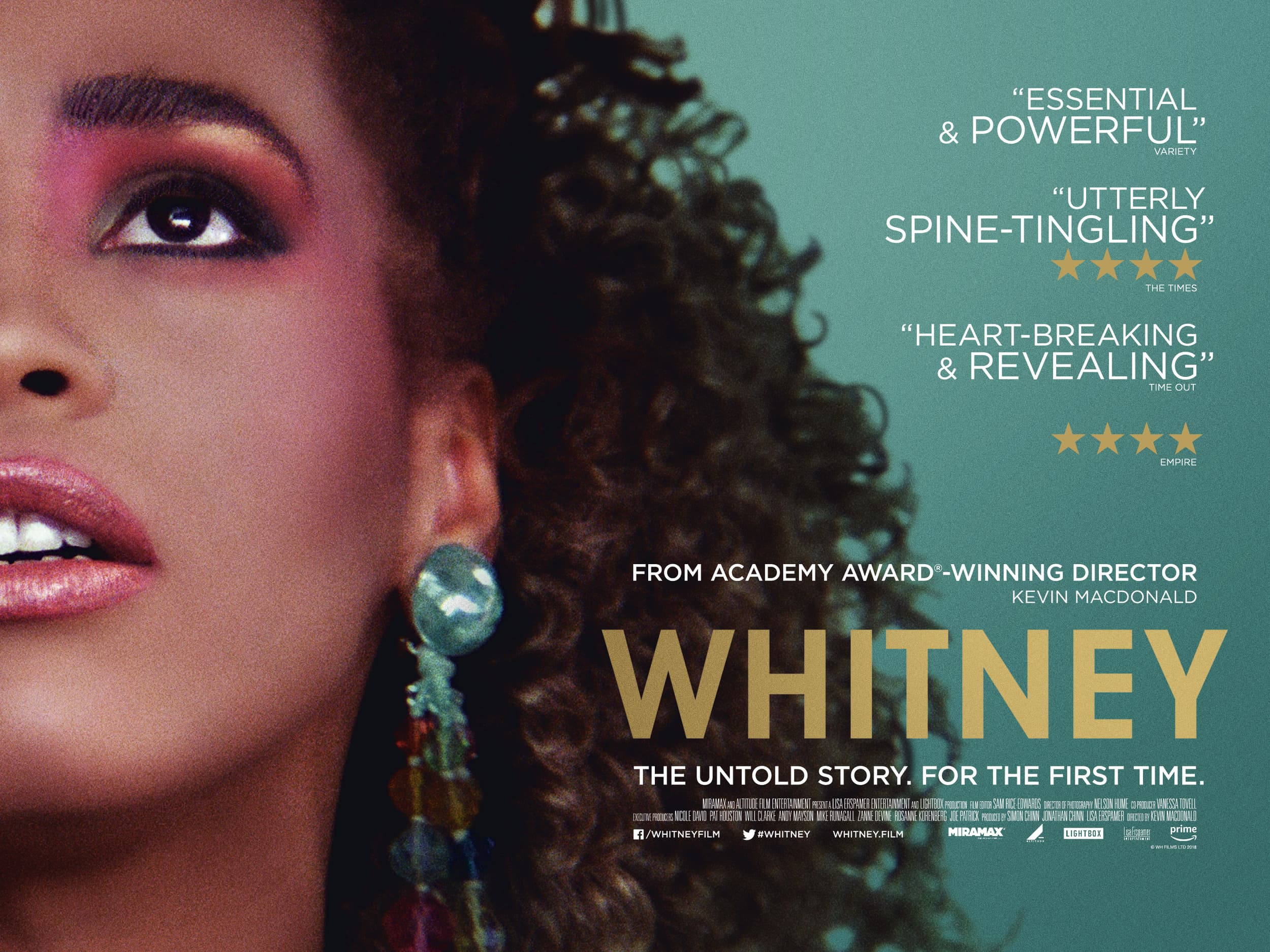 Roadside Attractions and Miramax have released a UK poster for Whitney