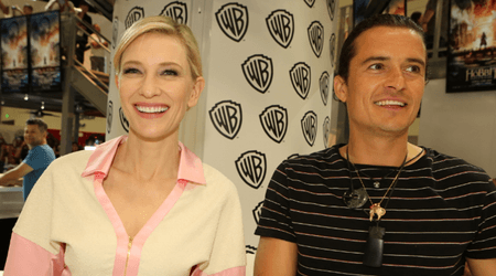 Orlando Bloom admits he spied on Cate Blanchett and had a massive crush on her when they were filming 'Lord of the Rings'