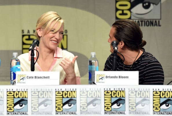 Cate Blanchett and Orlando Bloom at Comic-Con International 2014 at San Diego Convention Center on July 26, 2014 in San Diego, California (Getty Images)