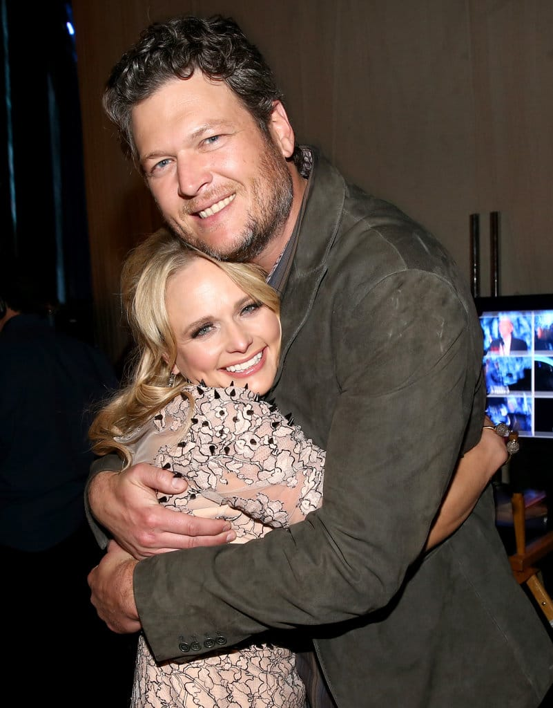 Singers Miranda Lambert and Blake Shelton attend 2014 MusiCares Person Of The Year Honoring Carole King at Los Angeles Convention Center on January 24, 2014 in Los Angeles, California (Photo by Christopher Polk/Getty Images for NARAS)