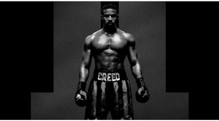 Michael B Jordan reveals smoldering chest in a shirtless photo for the first poster for 'Creed II'