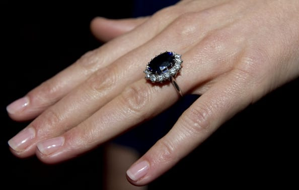 Kate Middleton's engagement ring (Source: Getty Images)
