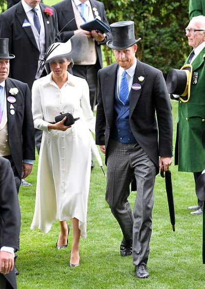 Meghan and Harry at the racing event (Getty Images)