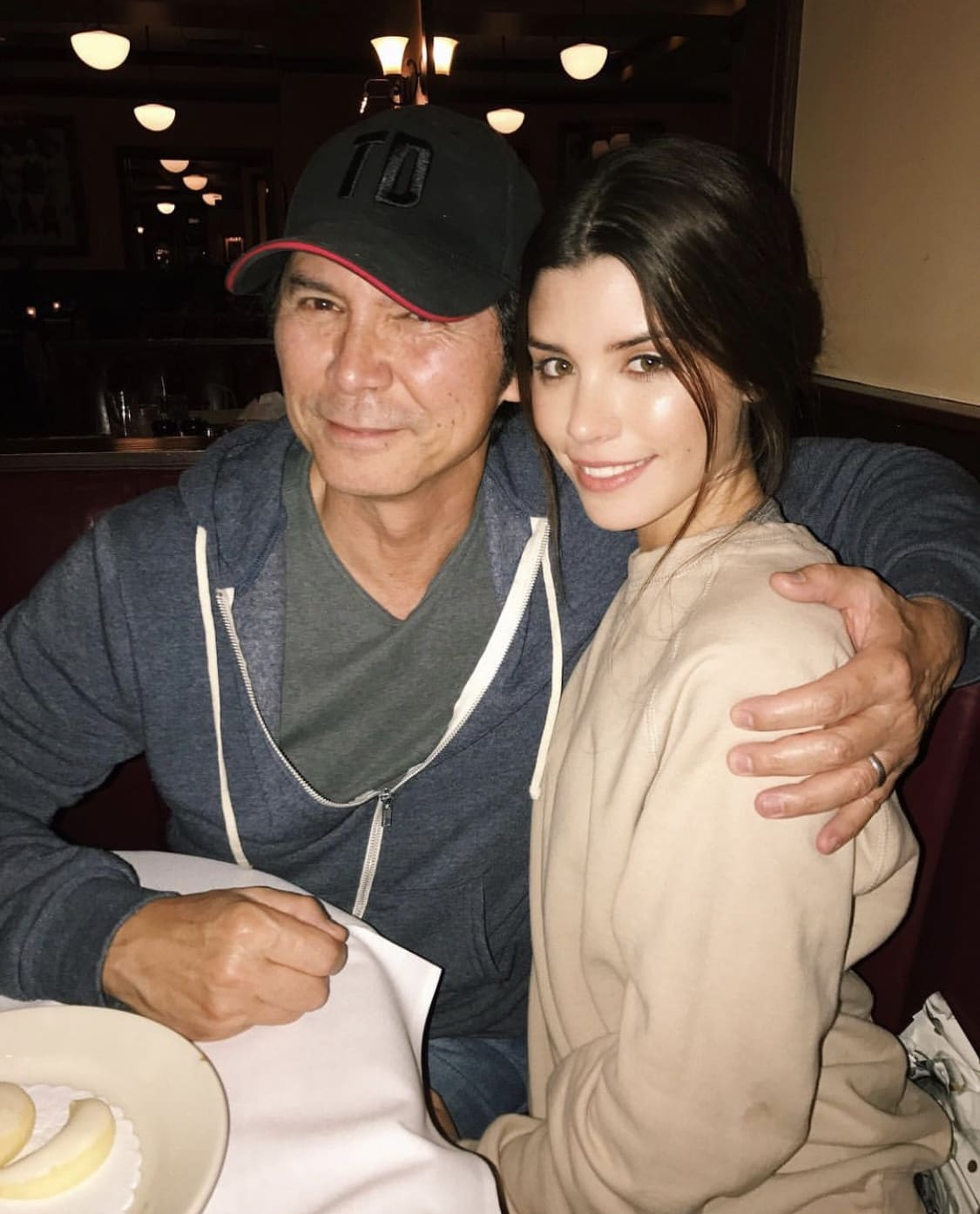 The young model recently revealed that her celebrity dad is Golden-Globe nominated actor Lou Diamond Phillips, whose breakthrough came when he starred as Ritchie Valens in the biographical drama film 'La Bamba'. (Source: Adam Mont)