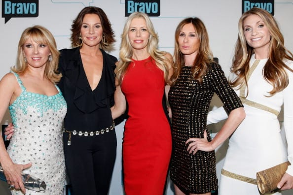 Ramona Singer, LuAnn de Lesseps, Aviva Drescher, Caroline Radzwill, and Heather Thomson of The Real Housewives of NY attend the Bravo Upfront 2012 - Cindy Ord/Getty Images