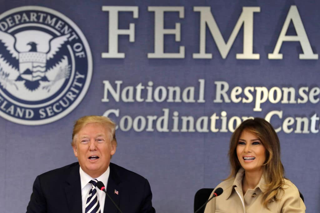 US President Donald Trump and First Lady Melania Trump on June 6, 2018, in Washington, DC (Getty Images)
