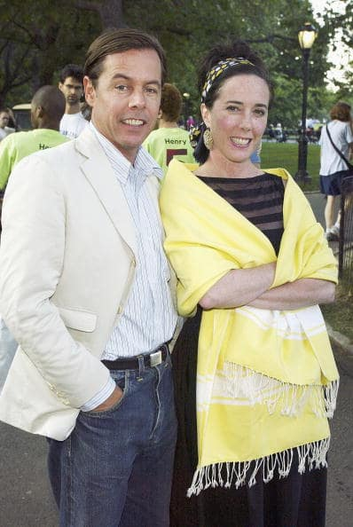 Andy and Kate Spade during a party to celebrate the opening night of 'Henry V' in Central Park, New York City (Photo by Scott Gries/Getty Images)