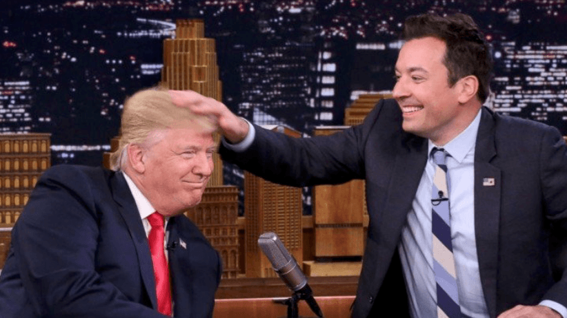 Donald Trump and Jimmy Fallon (Source: Twitter)