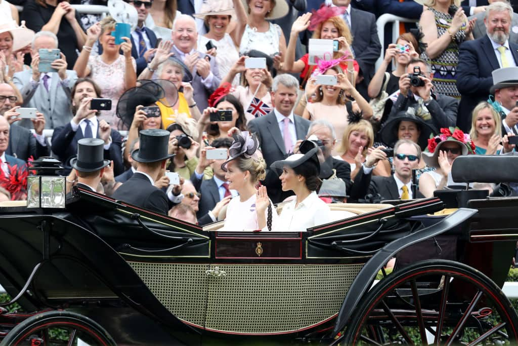 Meghan Markle and Prince Harry arriving at the Royal Ascot in a traditional carriage (Getty Images)