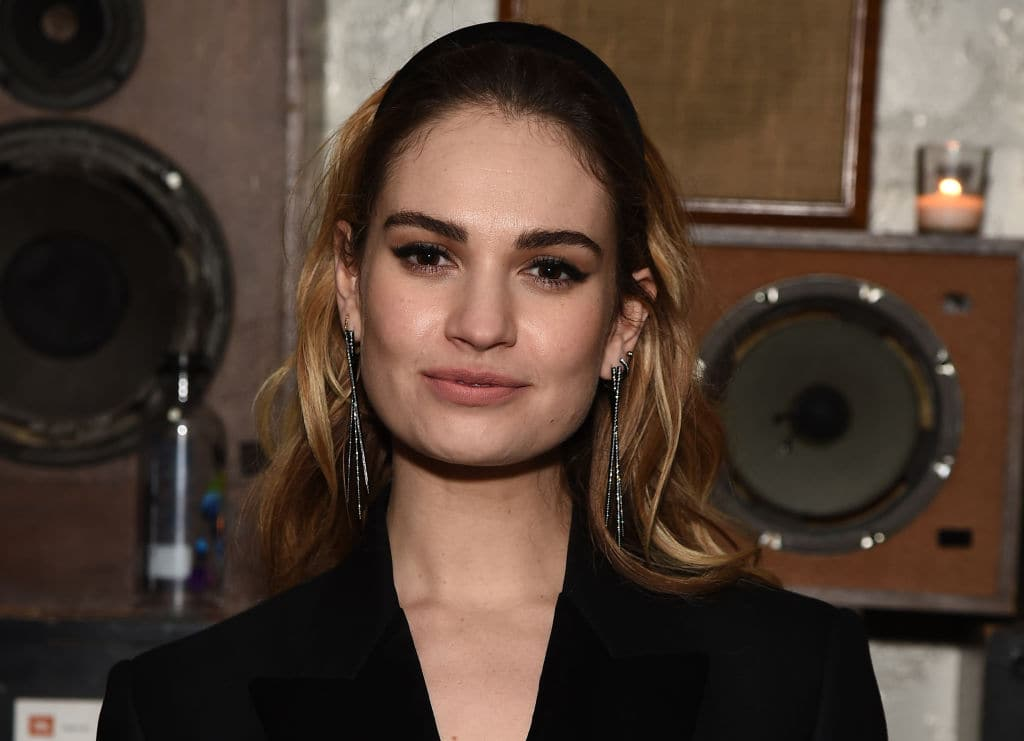Lily James poses during 2018 Tribeca Film Festival After-Party for Little Woods At Ace Hotel at Liberty Hall at Ace Hotel on April 21, 2018 in New York City. (Photo by Ilya S. Savenok/Getty Images for 2018 Tribeca Film Festival)