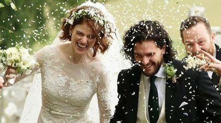 Game of Thrones stars Kit Harington and Rose Leslie tie the knot in Scotland