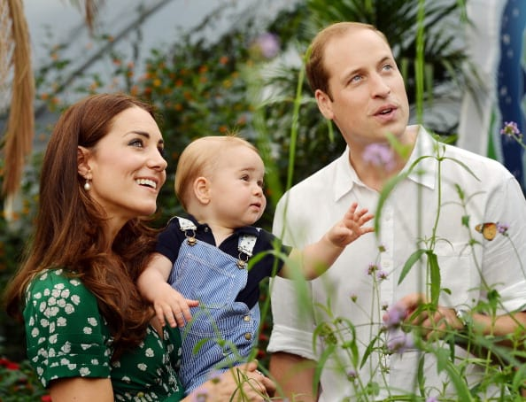 Kate Middleton and Prince William with Prince George on his first birthday (Getty Images)