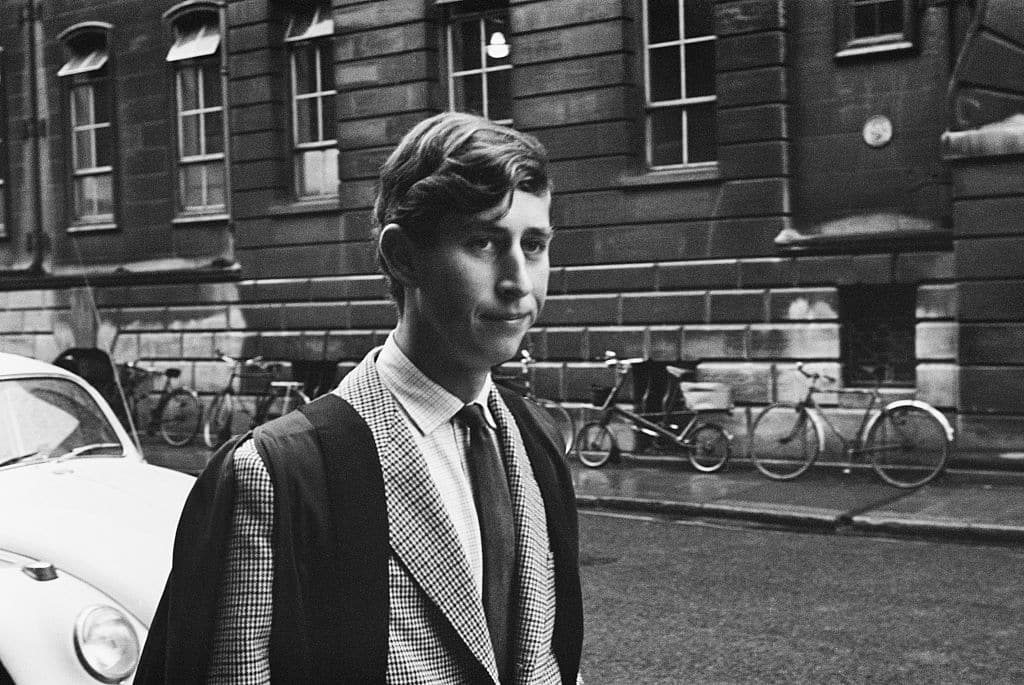 Prince Charles during his time at Trinity College