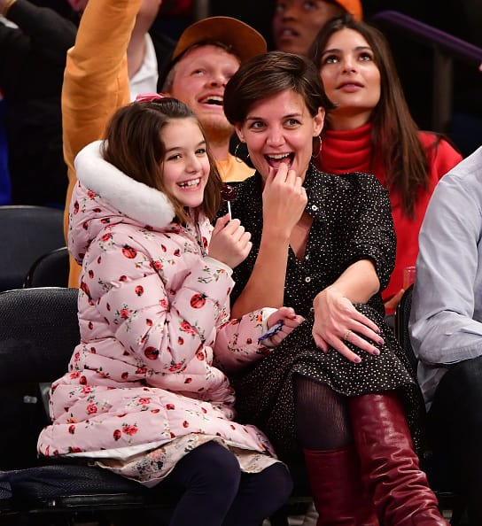 Katie Holmes and Tom Cruise's daughter Suri (James Devaney/Getty Images)