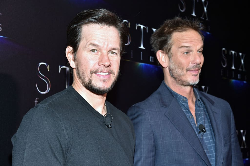 Mark Wahlberg (L) and director Peter Berg at CinemaCon 2017 The State of the Industry: Past, Present and Future and STXfilms Presentation at The Colosseum at Caesars Palace during CinemaCon, the official convention of the National Association of Theatre Owners, on March 28, 2017 in Las Vegas, Nevada. (Photo by Alberto E. Rodriguez/Getty Images for CinemaCon)