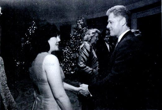 Monica Lewinsky meeting President Bill Clinton at a White House function (Getty Images)