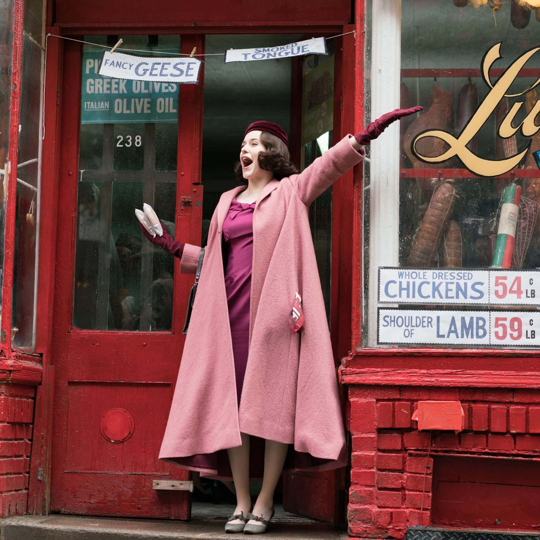Mrs. Maisel's world is set in 1958 New York, with her perfect marriage that suddenly comes crumpling down (Amazon)
