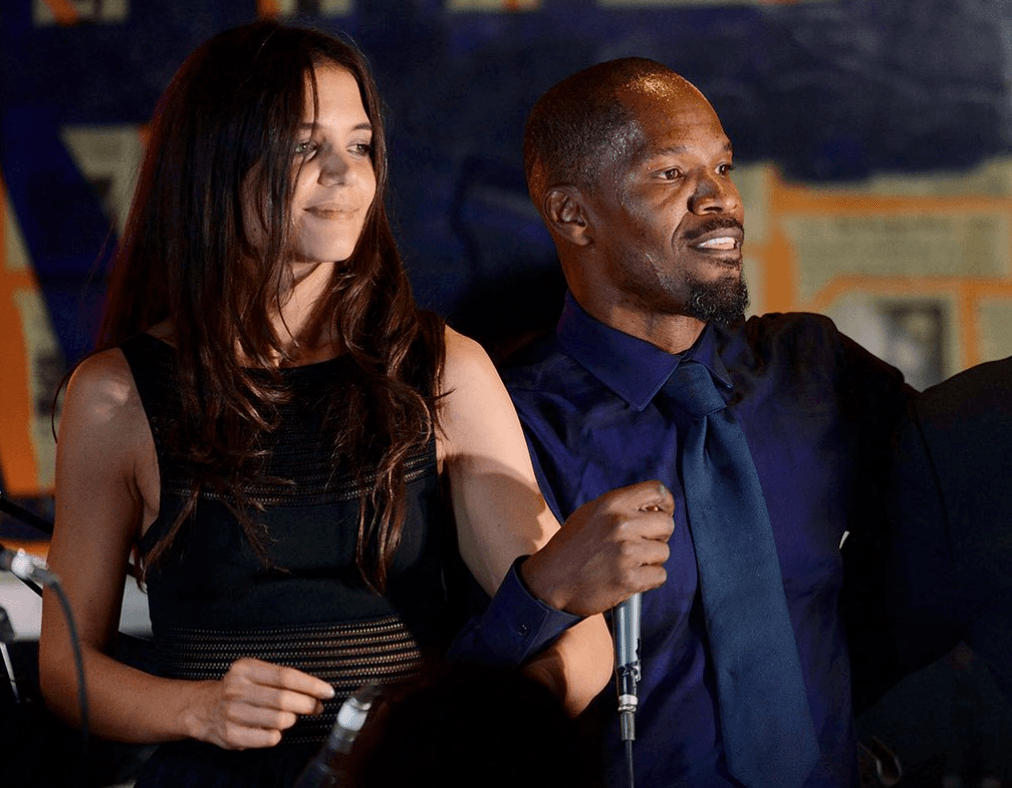 Katie Holmes and Jamie Foxx (Source: Getty Images)
