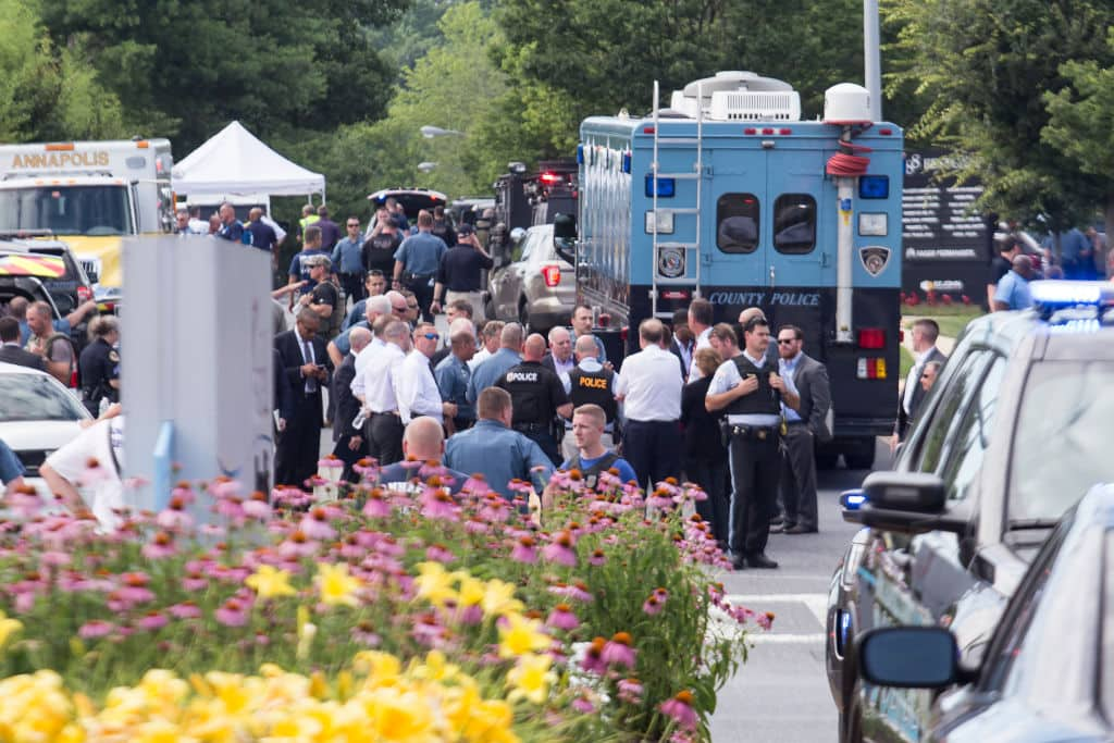 Staffers posted a number of distressing eyewitness accounts to Twitter as the shooting unfolded (Getty Images)