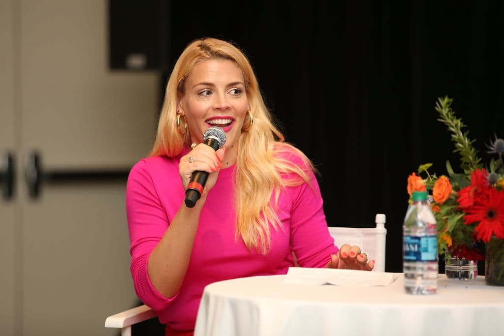 Busy Philipps speaks onstage at the 4th Annual Bentonville Film Festival - Day 4 on May 4, 2018 in Bentonville, Arkansas. (Photo by Phillip Faraone/Getty Images for Bentonville Film Festival)