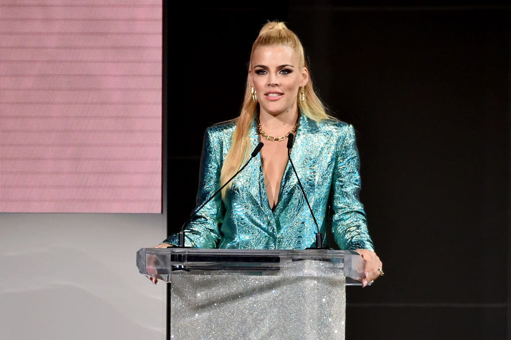 Busy Philipps speaks onstage during the 2018 CFDA Fashion Awards at Brooklyn Museum on June 4, 2018 in New York City. (Photo by Theo Wargo/Getty Images)