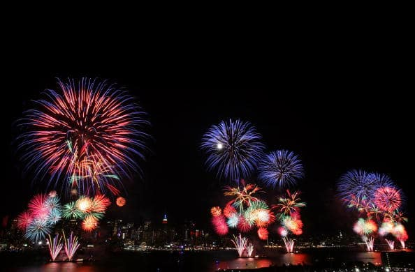 July 4 fireworks display in New York City (Getty Images)