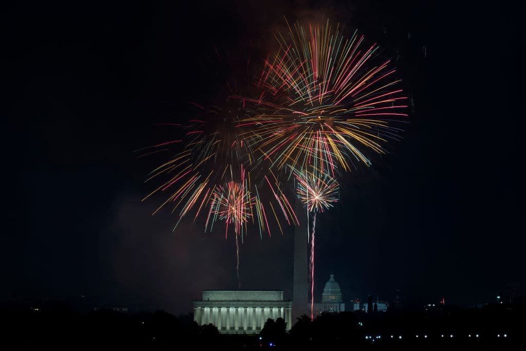 July 4 fireworks display in Washington D.C. (Getty Images)