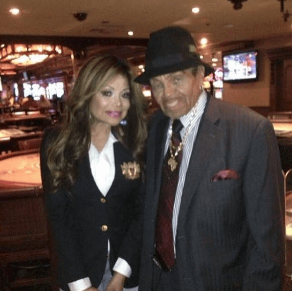 La Toya Jackson and Joe Jackson (Source: officiallatoyajackson, Instagram)