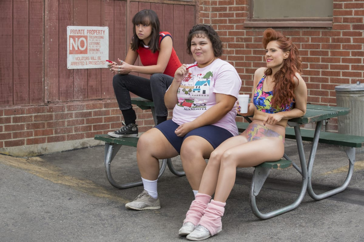 Britt Baron, Britney Young and Kate Nash from season 2 of 'GLOW' (Netflix)