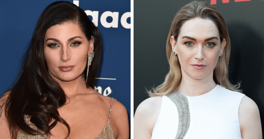 Tans-actors Trace Lysette (L) and Jamie Clayton (R) have also spoken out since the news of Johansson's casting surfaced. Source: Getty Images